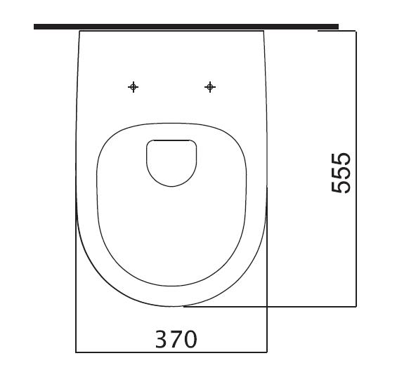 Fluenta Rimless toilet seat 3