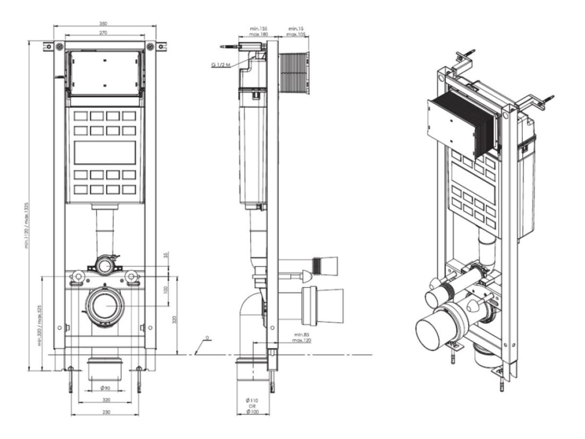 Fluenta Basic flushing cistern